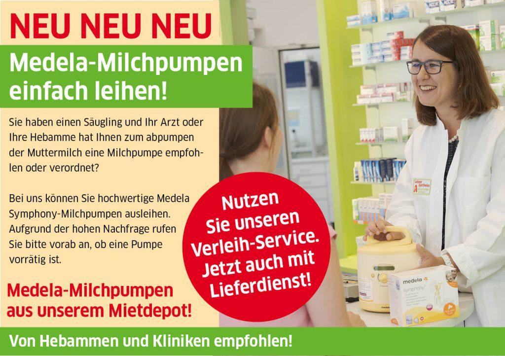 Medela Milchpumen Verleih in der Niederwall Apotheke Bielefeld